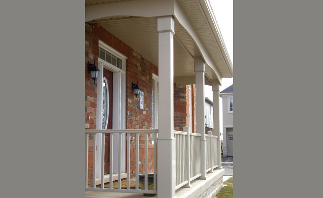 square columns on a front porch