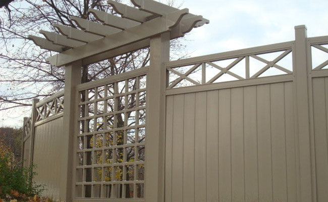 fence with lattice