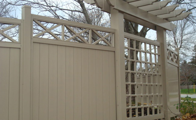 vinyl fence panels with decorations