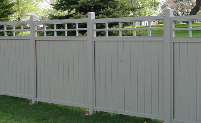 premade fence panels in yard
