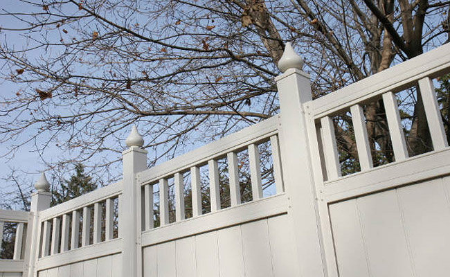 fence with decorative accents
