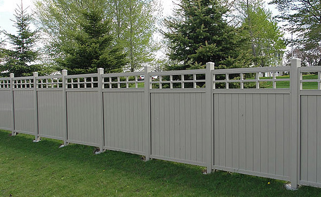 fence panels with lattice accents