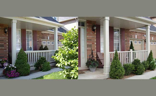 porch railing and columns